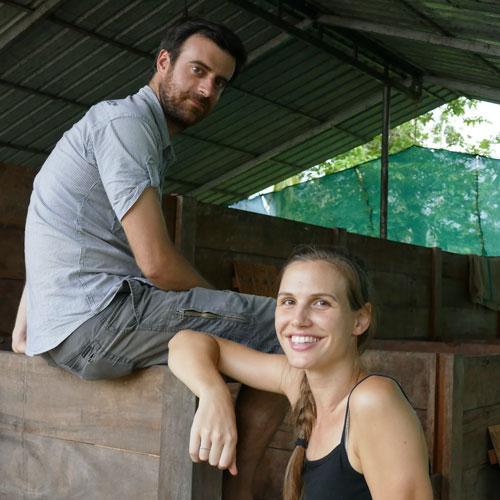 Luca & Ellen oprichters van Holy Cow Chocolate